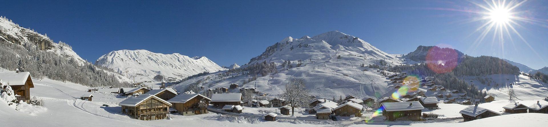 Le Chinaillon, Grand-Bornand sous la neige.