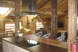 Cuisine ouverte et moderne, le Chamois 2, appartements en location le Chinaillon, Le Grand-Bornand